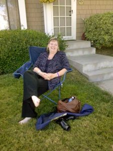 Renee relaxing